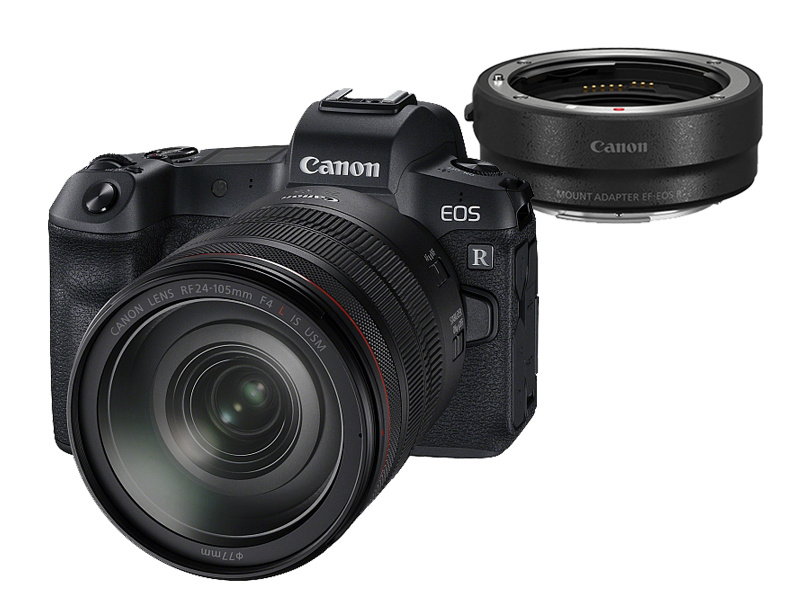 Canon EOS R + 24-105mm IS USM + EF adapter